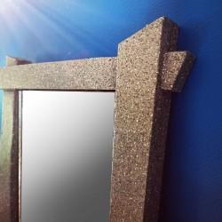 Miroir japonisant - effet minéral