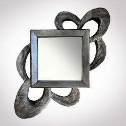"""Miroir """"entrelacs"""" - effet métal"""