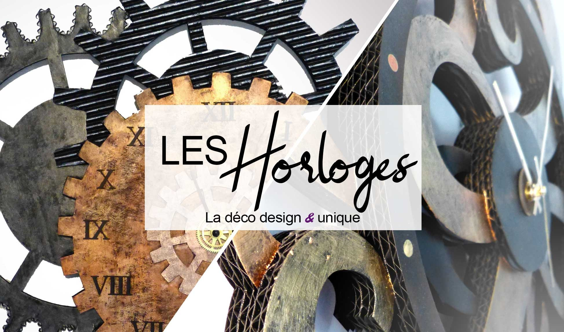 Horloges design en carton  par Laura Dambre éco design factory