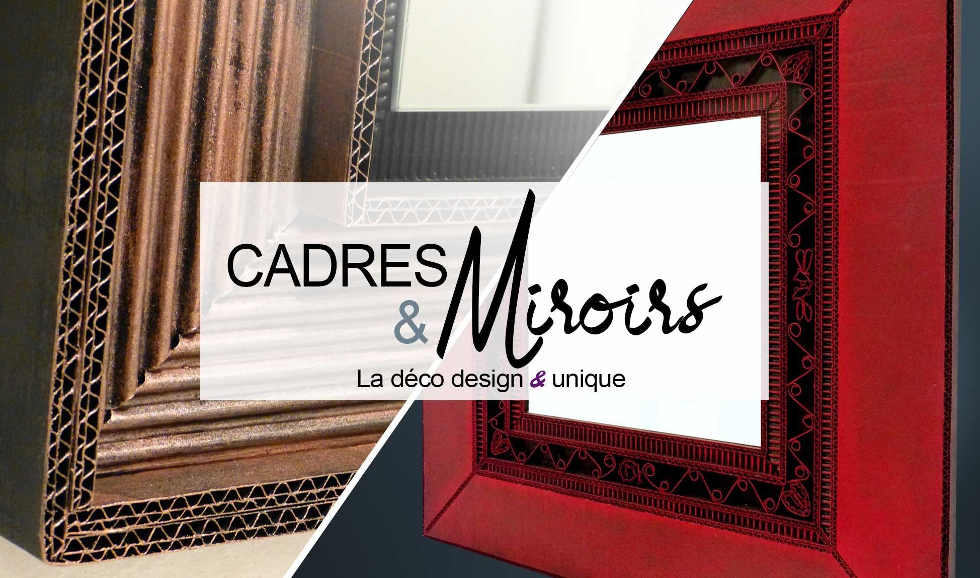 Cadres et miroirs design en carton par Laura Dambre éco design factory